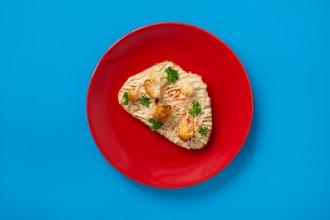 Sült karfiolos hummusz szendvics