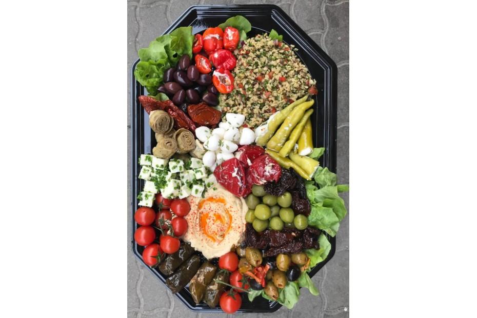 Vegetáriánus antipasti tál