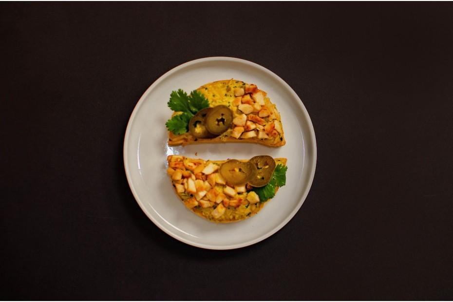Pikáns sült csirke patés szendvics